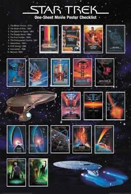 Star Trek Movie Poster Checklist