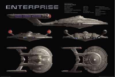 Star Trek U.S.S Enterprise Movie Poster