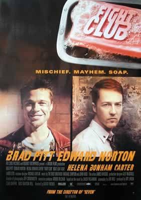 Brad Pitt and Edward Norton Fight Club Movie Poster