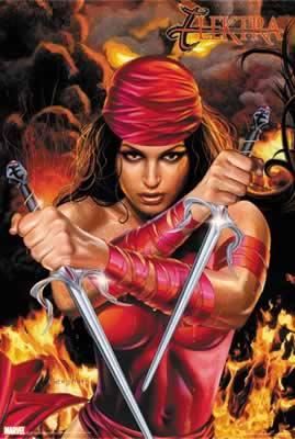 Marvel Comics Elektra Officially Licensed Poster