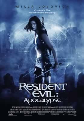 Resident Evil Apocalypse Milla Jovovich Movie Poster