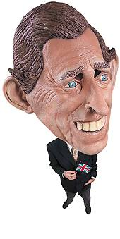 Prince Charles Soft Vinyl 3/4 Adult Mask by Rubie's