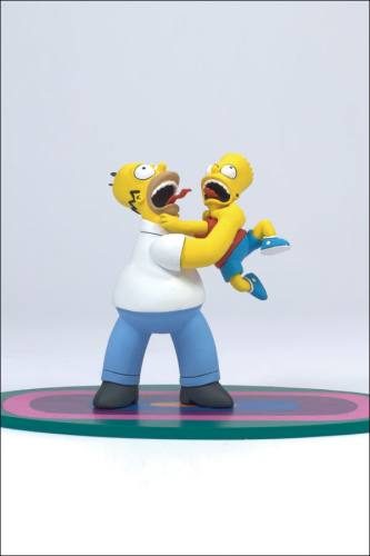 The Simpsons Series 1 Homer & Bart Figure by McFarlane.