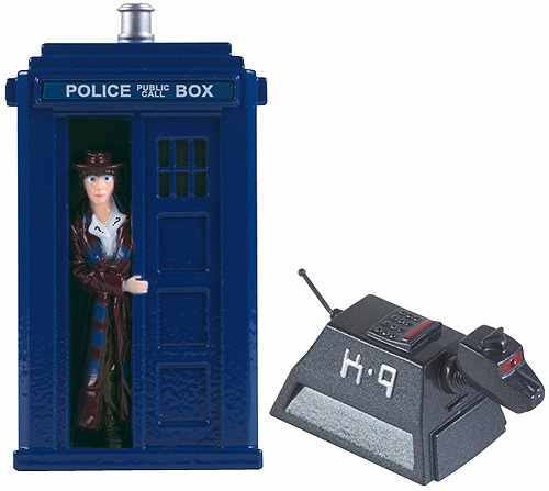 Dr Who Set Of 2 Figures K9 and The Tardis.