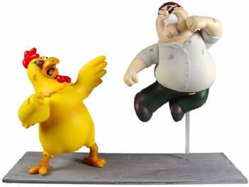 Family Guy Peter & Giant Chicken Boxed Set by MEZCO.