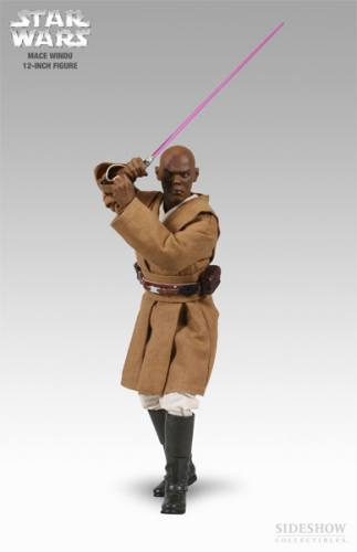 Star Wars Mace Windu Figure by Sideshow Collectibles.