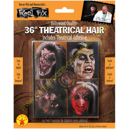 Special F/X Theatrical Brown Hair by Rubie's.