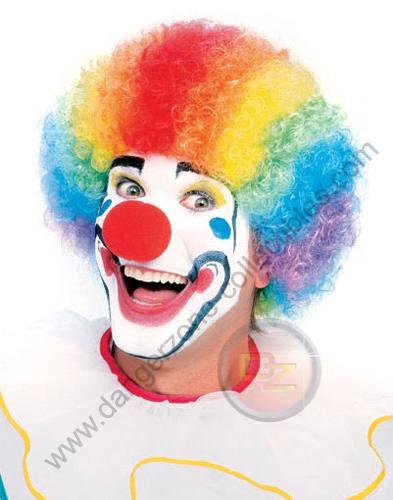 Multi Coloured Clown Wig by Rubie's.