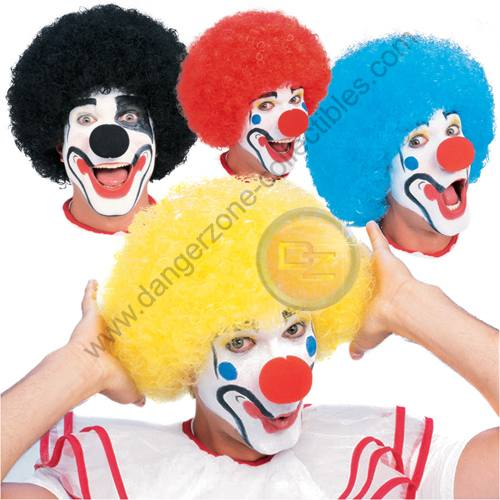 Blue Coloured Clown Wig by Rubie's.