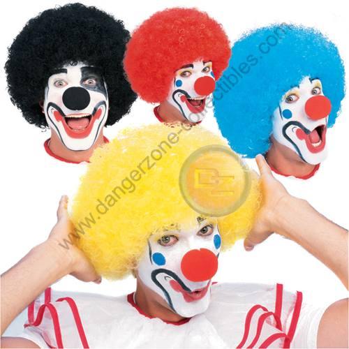Black Coloured Clown Wig by Rubie's.