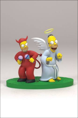 The Simpsons Series 2 Good & Evil Homer Figures by McFarlane.