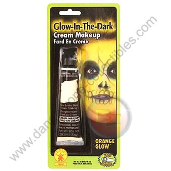 Special F/X Theatrical Base Cream Paint Glow In The Dark Orange by Rubie's.