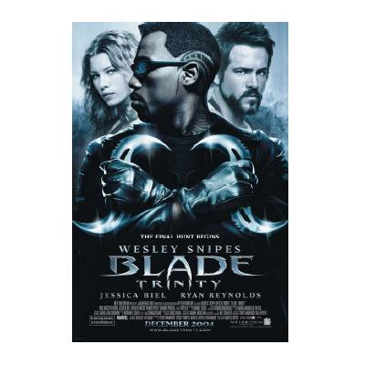 Blade Trinity Wesley Snipes Movie Poster Dangerzone Collectibles Online Store