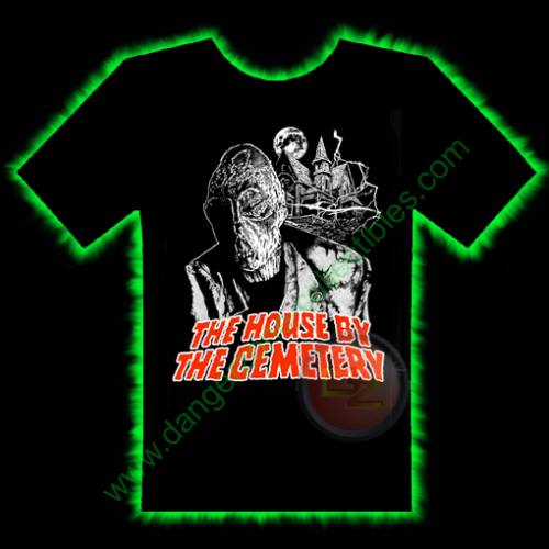 The House By The Cemetery Horror T-Shirt by Fright Rags - EXTRA LARGE
