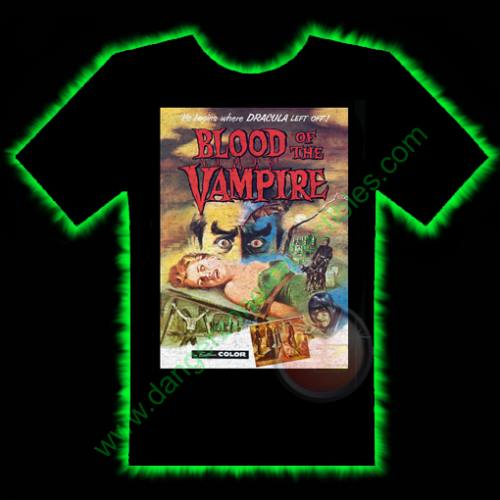 Blood Of The Vampire Horror T-Shirt by Fright Rags - SMALL