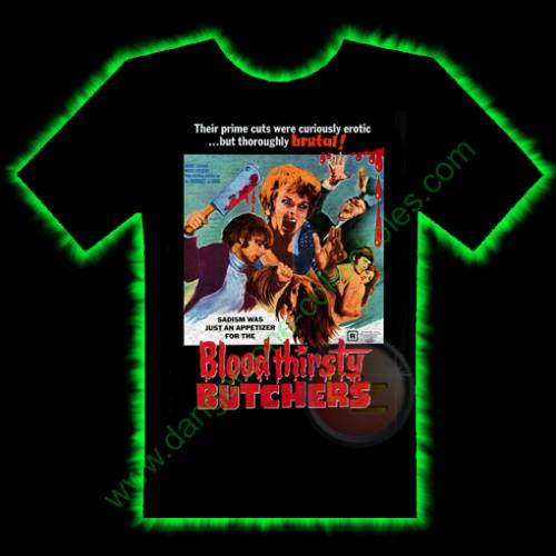 Bloodthirsty Butchers Horror T-Shirt by Fright Rags - SMALL