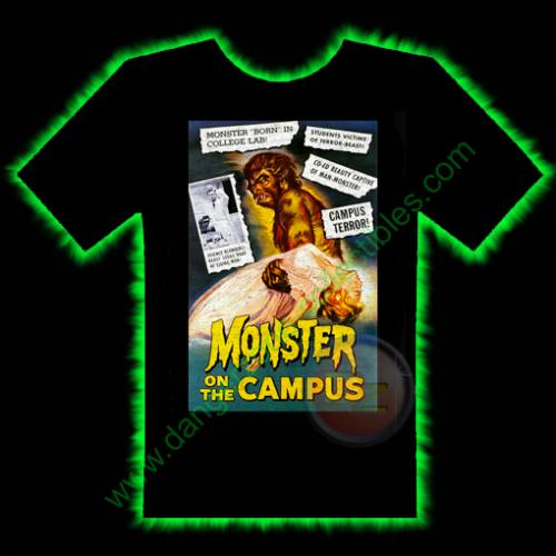 Monster On The Campus Horror T-Shirt by Fright Rags - SMALL