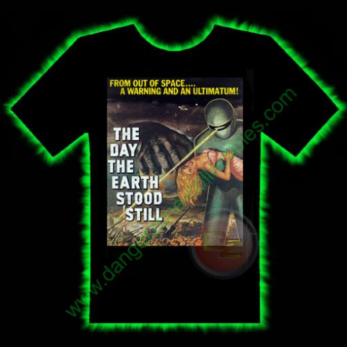 The Day The Earth Stood Still Horror T-Shirt by Fright Rags - SMALL