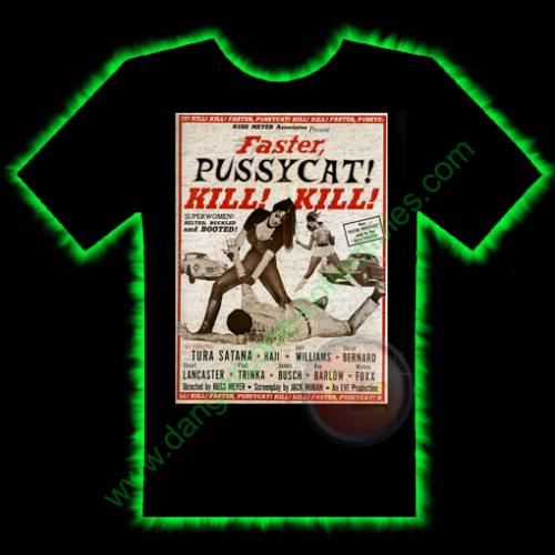 Faster Pussycat Horror T-Shirt by Fright Rags - MEDIUM