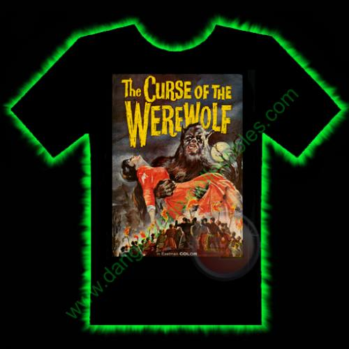 Curse Of The Werewolf Horror T-Shirt by Fright Rags - LARGE