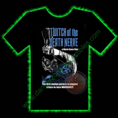 Twitch Of The Death Nerve Horror T-Shirt by Fright Rags - EXTRA LARGE
