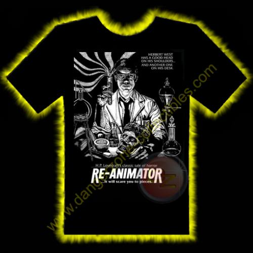 Re-Animator Horror T-Shirt by Rotten Cotton - LARGE