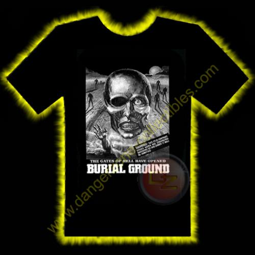 Burial Ground Horror T-Shirt by Rotten Cotton - LARGE