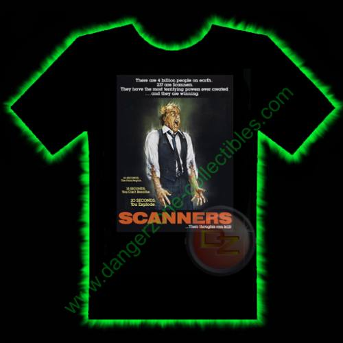 Scanners Horror T-Shirt by Fright Rags - SMALL