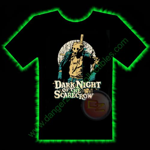 Dark Night Of The Scarecrow Horror T-Shirt by Fright Rags - EXTRA LARGE