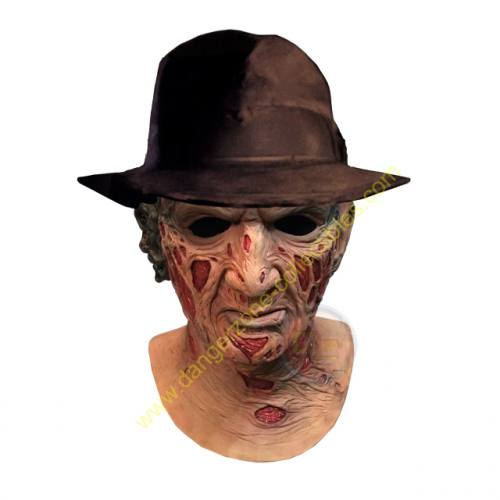 A Nightmare On Elm Street Freddy Krueger Full Overhead Mask & Hat by Trick Or Treat Studios
